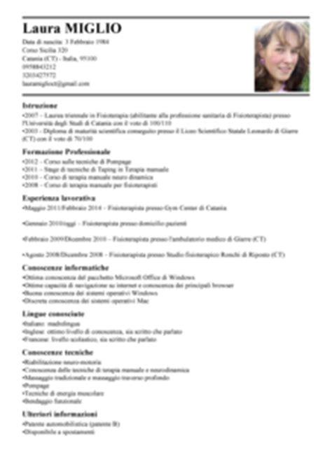 Modelo Curriculum Vitae Fisioterapia Modello Curriculum Vitae Fisioterapista Esempio Cv Fisioterapia Livecareer