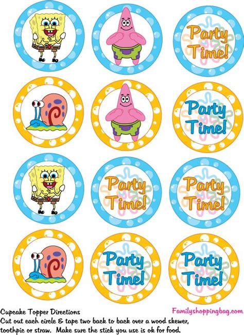 printable spongebob birthday decorations 17 best images about festa bob esponja on pinterest