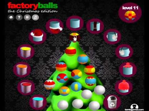 factory balls christmas edition walkthrough all levels 1