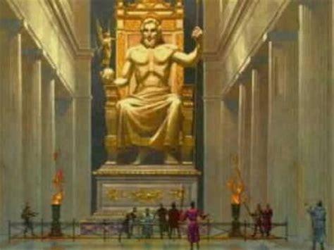 imagenes de la estatua del dios zeus estatua de zeus las 7 maravillas del mundo