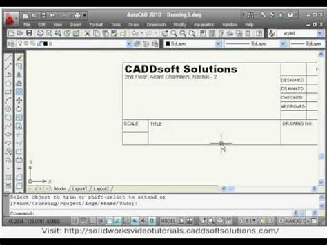 autocad tutorial how to insert a title block autocad title block creation autocad insert title block