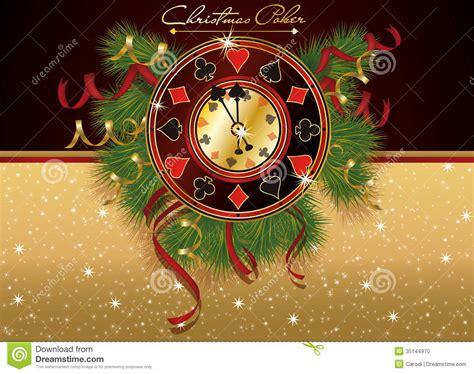 christmas poker casino banner stock vector image