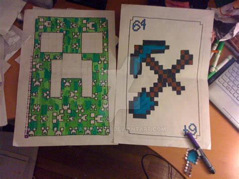 Where To Buy A Minecraft Gift Card - giant minecraft playing cards by annycerri on deviantart