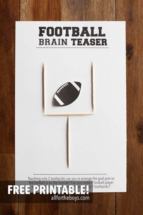 brain teasers football brain teaser printable all for the boys