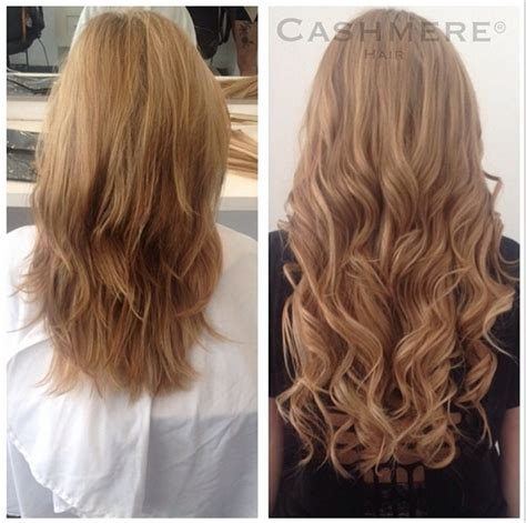 before after hair extensions 20 hair extensions before and after