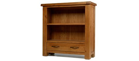 barham oak low bookcase with drawer quercus living