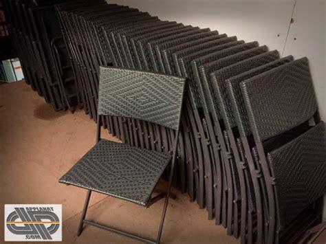 lot de  chaises grises tressees occasion vendu