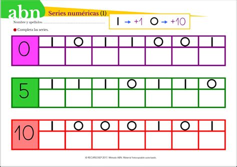 garage fournier amiens 3 fichas de series num 233 ricas para aprender los numeros