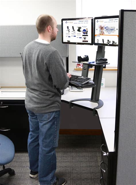 desk for 2 monitors height adjustable desk monitor stand search