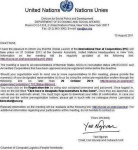Cover Letter Example United Nations Education Charter International