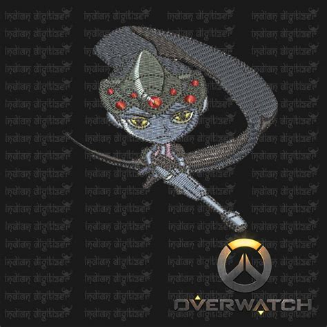 embroidery design maker overwatch embroidery designs widow maker individual