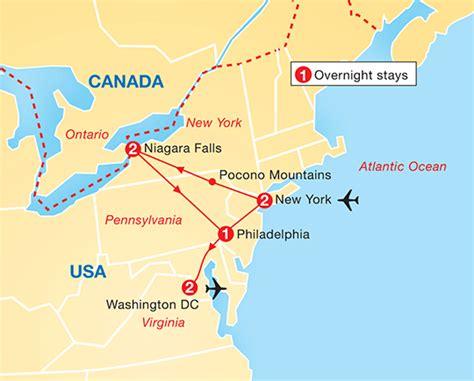 america map niagara falls new york niagara falls washington dc archers holidays