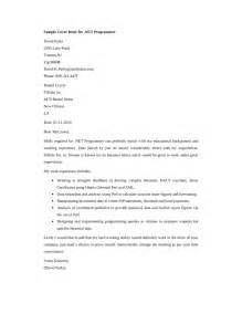 Application Developer Cover Letter by Net Developer Cover Letter Sles And Templates