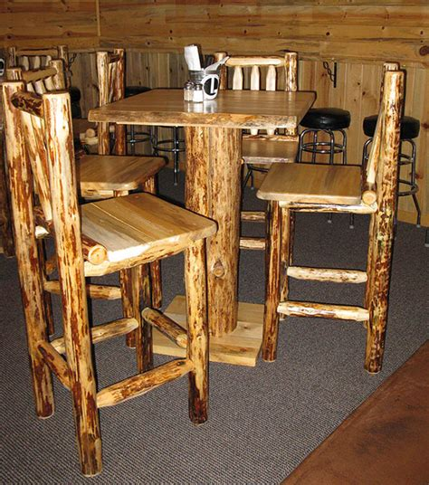Rustic Bistro Table And Chairs Rusticpubtable Rustic Bar Table Sosfund