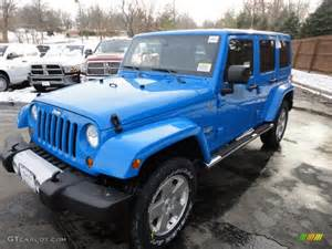 Bright Blue Jeep Wrangler 2011 Cosmos Blue Jeep Wrangler Unlimited 4x4