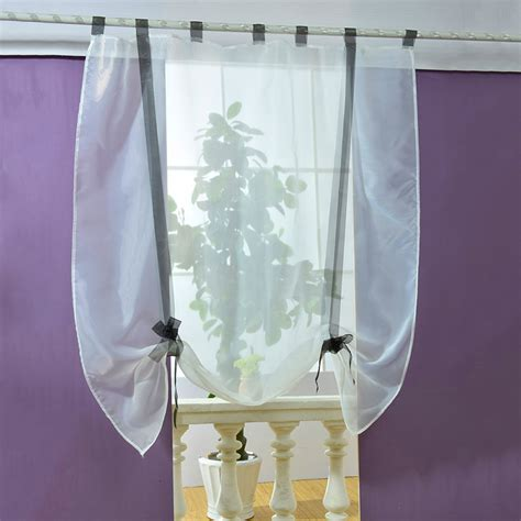 sheer kitchen window curtains new sheer kitchen bathroom balcony window curtain voile