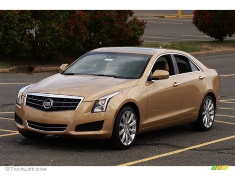 gold color cars 2013 summer gold metallic cadillac ats 2 5l luxury