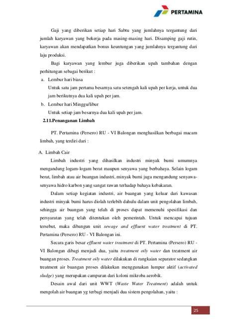Slip Gaji Karyawan Pertamina | profil pt pertamina persero ru vi balongan