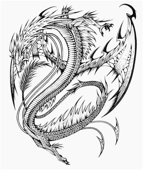 hard dragon coloring pages for adults coloring pages dragon coloring pages free and printable