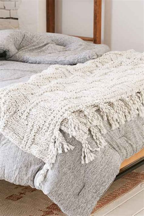 Throw Blanket For by Seed Stitch Knit Throw Blanket Outfitters