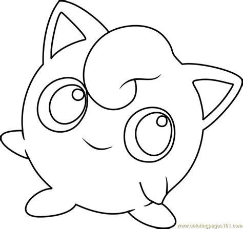 pokemon coloring pages jigglypuff jigglypuff pokemon coloring page free pok 233 mon coloring