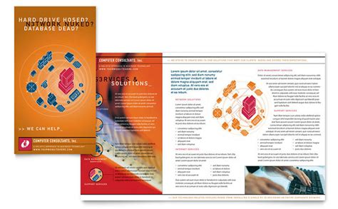 computer brochure templates computer consulting brochure template design