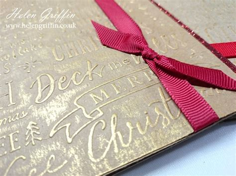 Does A Card Show Up On A Background Check Tutorial Embossed Background Glitter Cards Helen Griffin