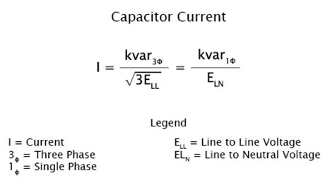 capacitor current formula nepsi power factor and general power system analysis formulas and calculators