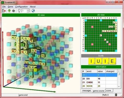 scrabble play against computer 3d scrabble pc simulation board play against