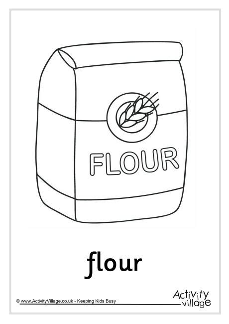 flour colouring page