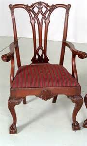307 12 antique chippendale claw dining chairs