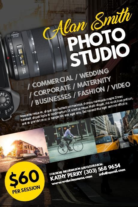 Photography Studio Poster Template   PosterMyWall