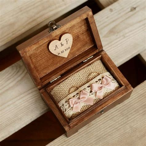 Wedding Ring In Box by Satisfaction Wedding Ring Box Wood