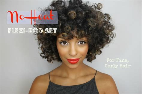 hairstyles for thin hair no heat 17 best images about flexi rods on pinterest heatless