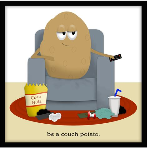 couch potato clipart darling doodles a relaxing gift the manly way