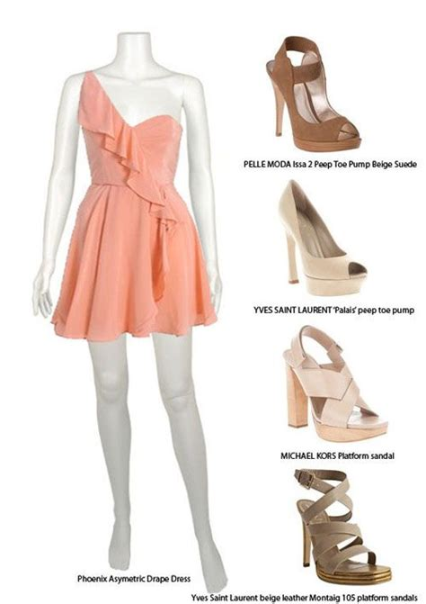 matching ur color dress color matching dress pinterest peach color dress shoes 39 how to match a peach