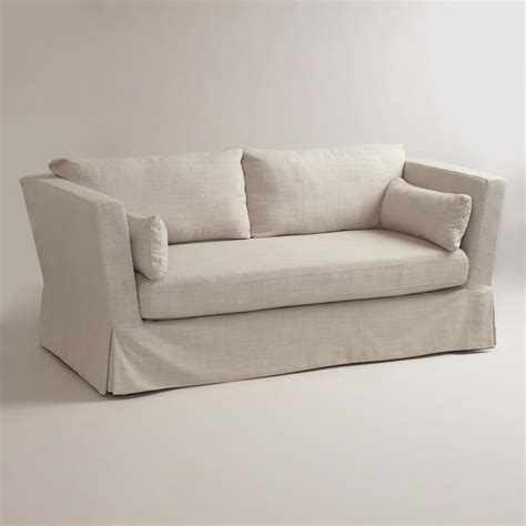 linen slipcovered sofa linen crosby sofa slipcover world market