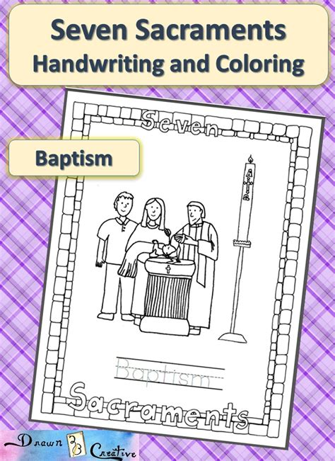 free coloring pages of seven sacraments