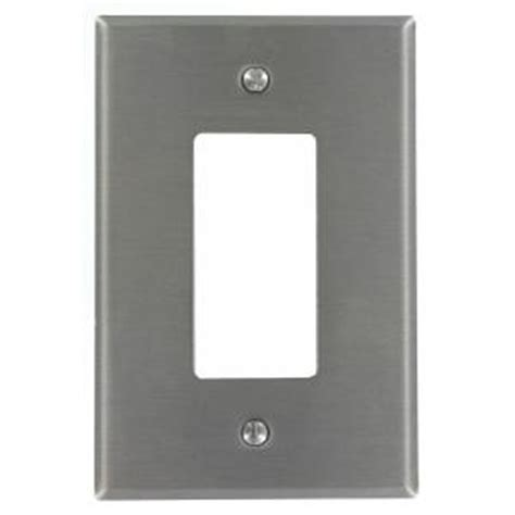 leviton 1 decora oversized wallplate stainless steel