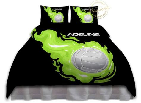 volleyball bedding volleyball bedding sports duvet cover lime green and