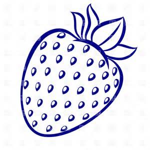 Strawberry Outline Drawing by Strawberry Outline Clipart Clipart Suggest