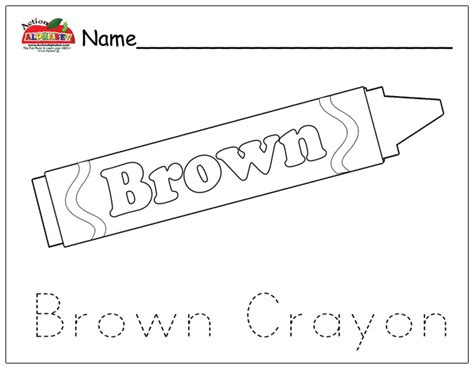 free coloring pages of brown crayon