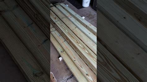 staining treated wood youtube