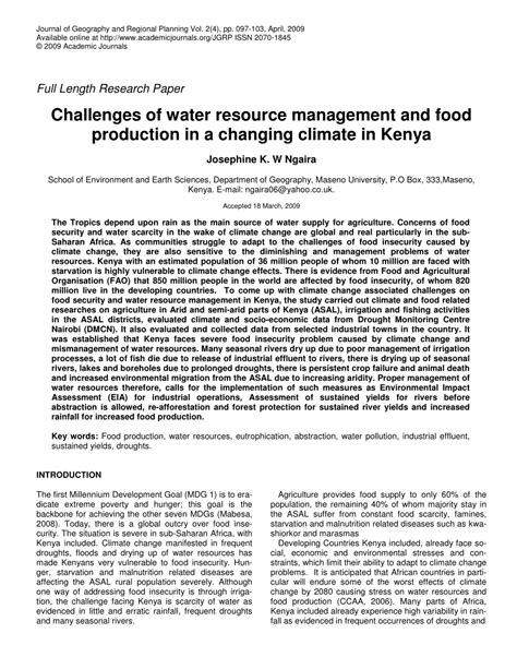 research paper on water water pollution research paper resources