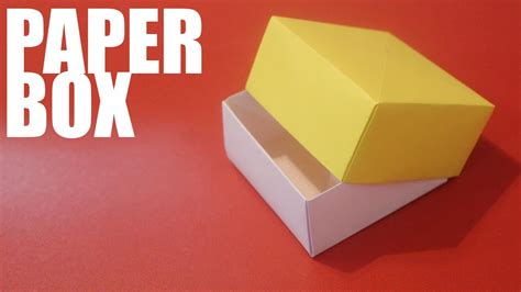 Folded Paper Box With Lid - origami paper box with lid tutorial origami paper