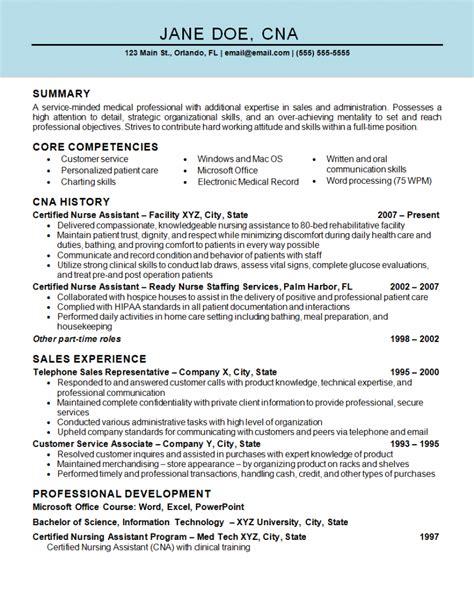 certified nursing assistant sample resume htm nice sample resume for