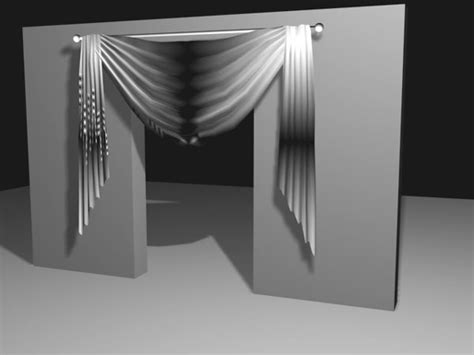 fabric draping software drapes curtain decoration fabric max 3ds max software