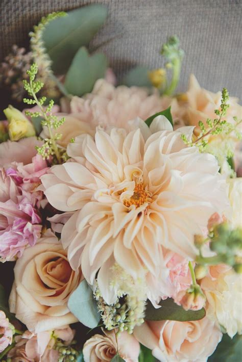 blush rose  dahlia bridal bouquet