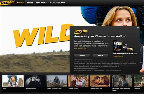 Tv Cinemax how to cinemax for free
