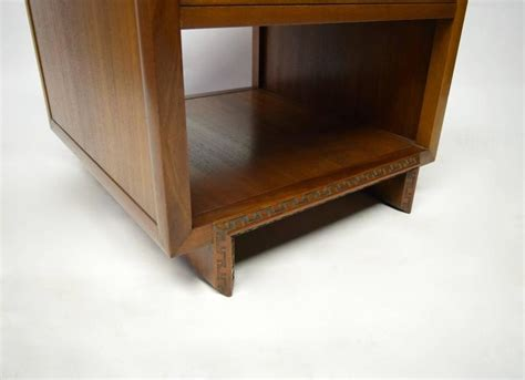 Pair Of Side Tables By Frank Lloyd Wright For Heritage Frank Lloyd Wright Bedroom Furniture